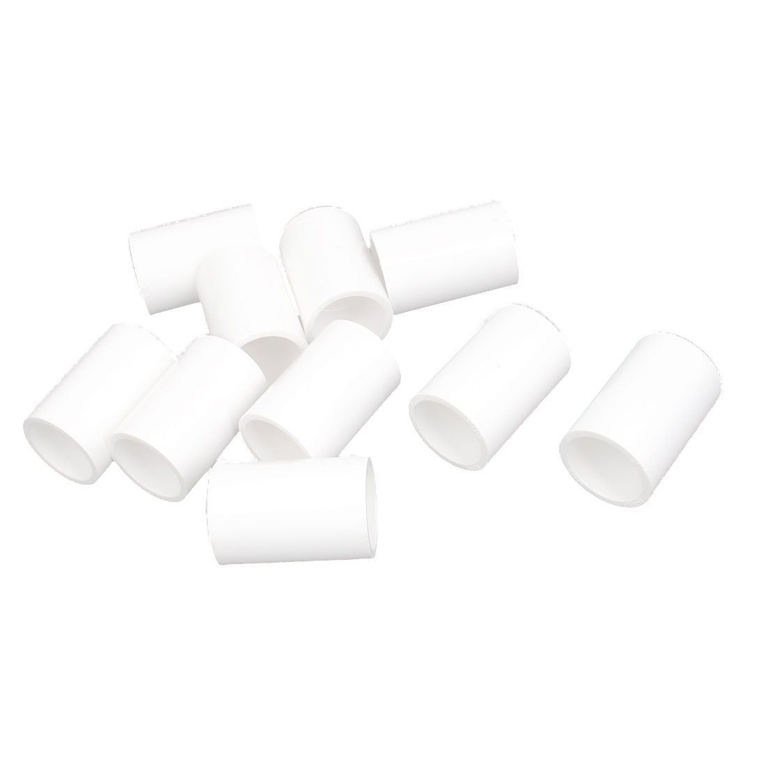 25mm Inner Dia PVC Straight Design Water Pipe Hose Joint Adapter Connector White 10pcs