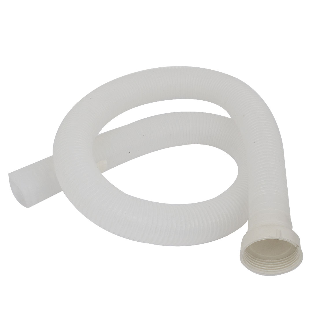 Washer Washing Machine Washbowl Plastic Water Drain Hose Pipe 100cm Long White