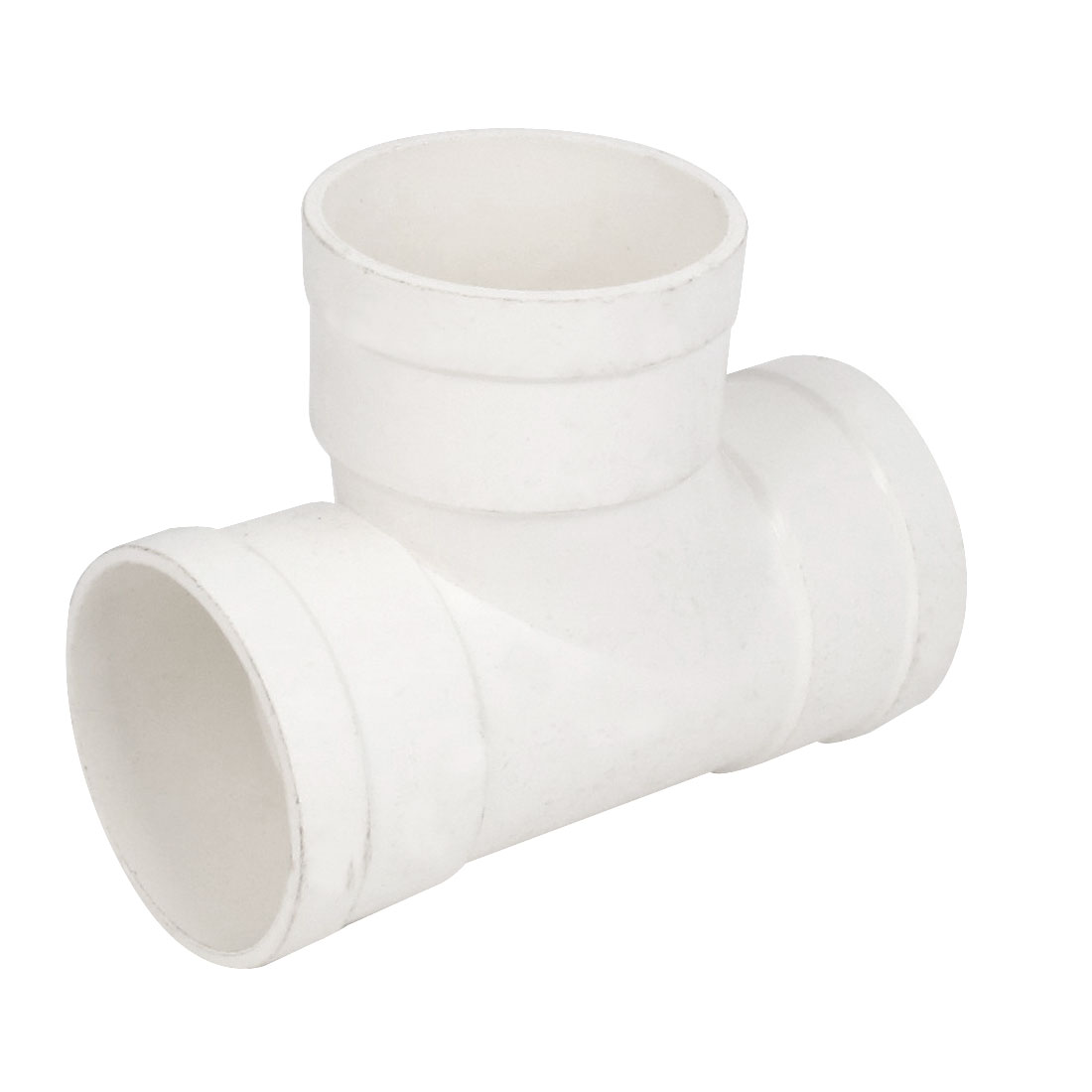 75mm Inner Dia PVC T Type 3 Way Water Pipe Hose Joint Adapter Connector White