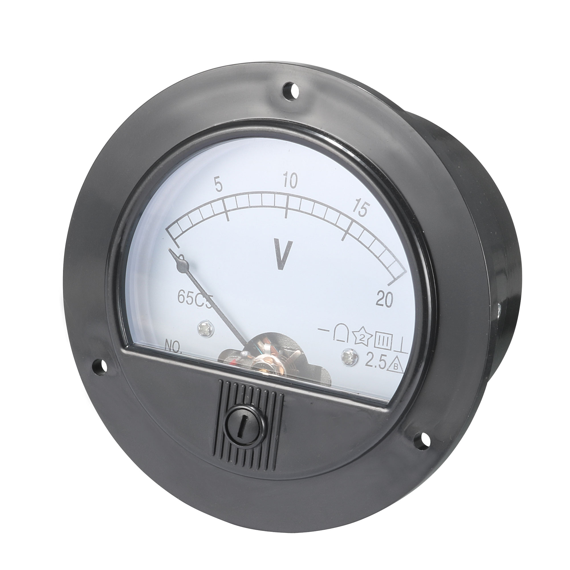 DC 0-20V Round Analogue Panel Meter Volt Voltage Gauge Analog Voltmeter