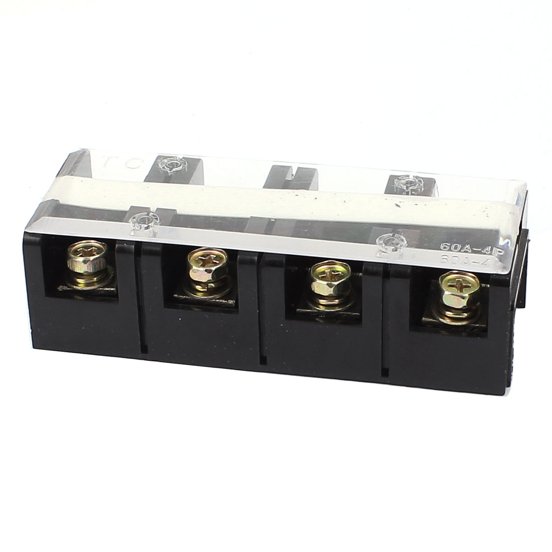 TC-604 60A Double Row 4 Position Screw Terminal Electric Barrier Strip Block