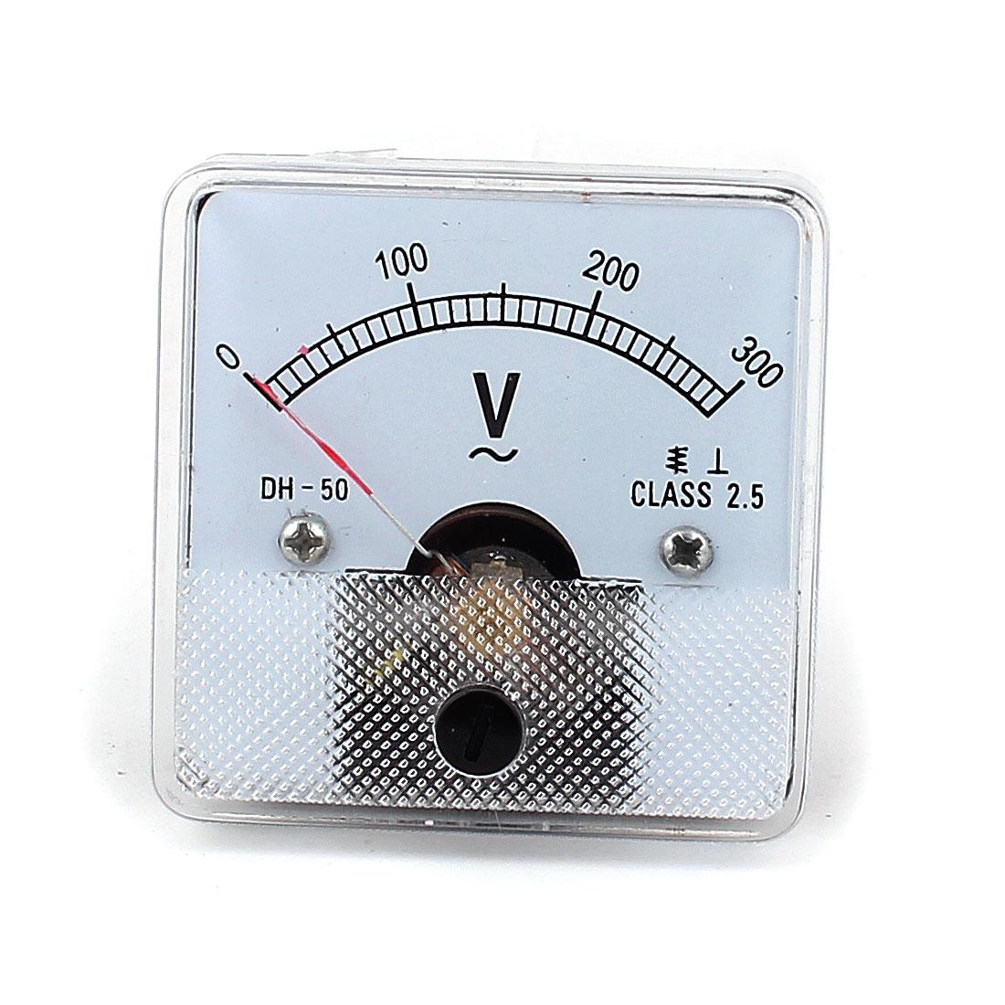 AC 0-300V Square Analogue Panel Meter Volt Voltage Gauge Analog Voltmeter