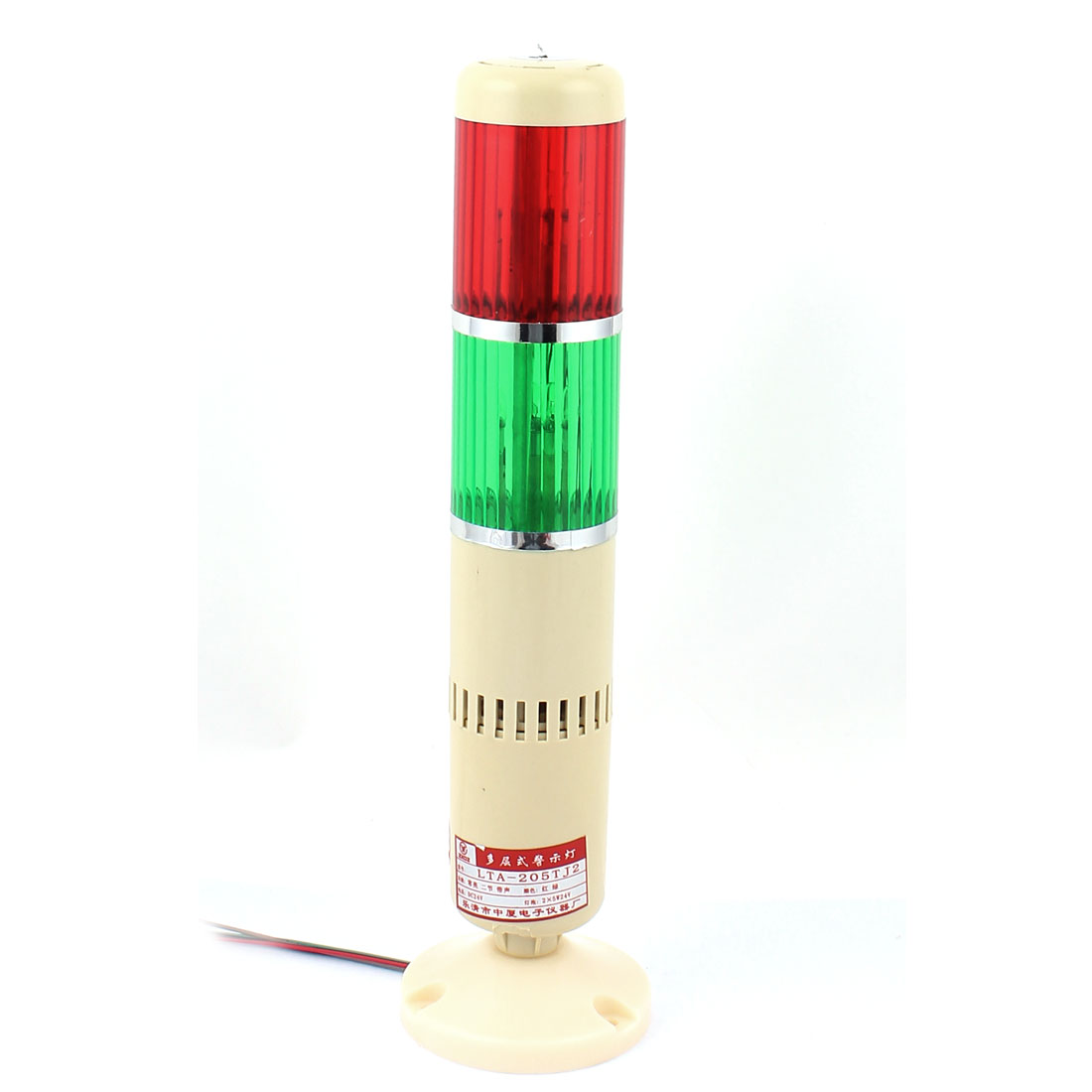 DC 24V Red Green Industrial Signal Tower Lamp Buzzer Alarm Warning Stack Light