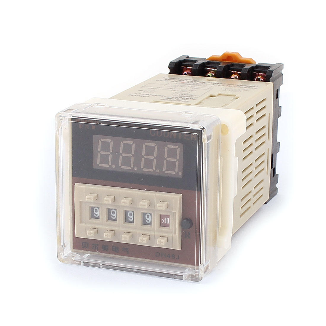 DH48J-8 AC/DC 24V 8Terminal 0-999900 Counter Adjustable Timer Delay Relay w Base