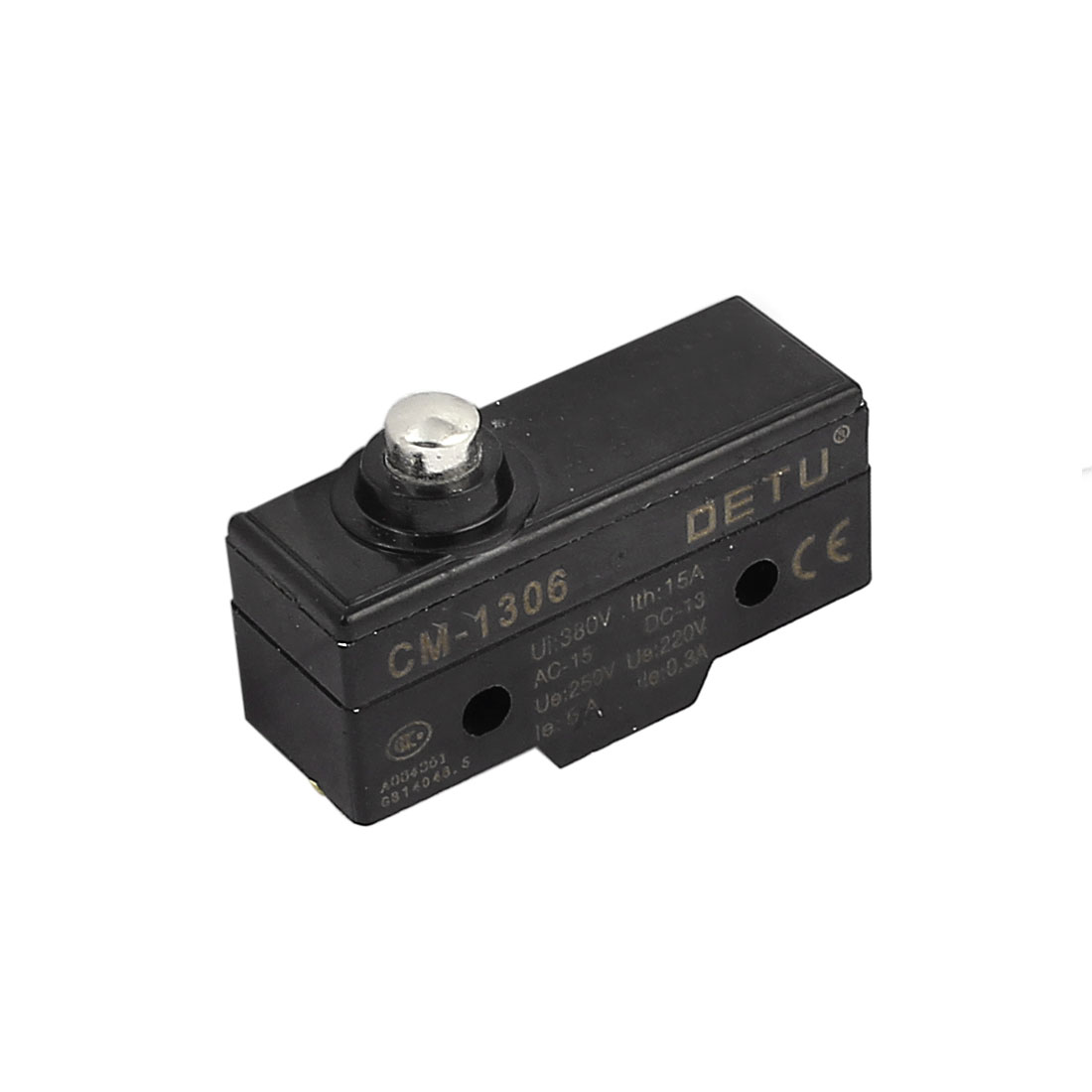 CM-1306 SPDT 3 Screw Terminal Momentary Push Plunger Micro Limit Switch