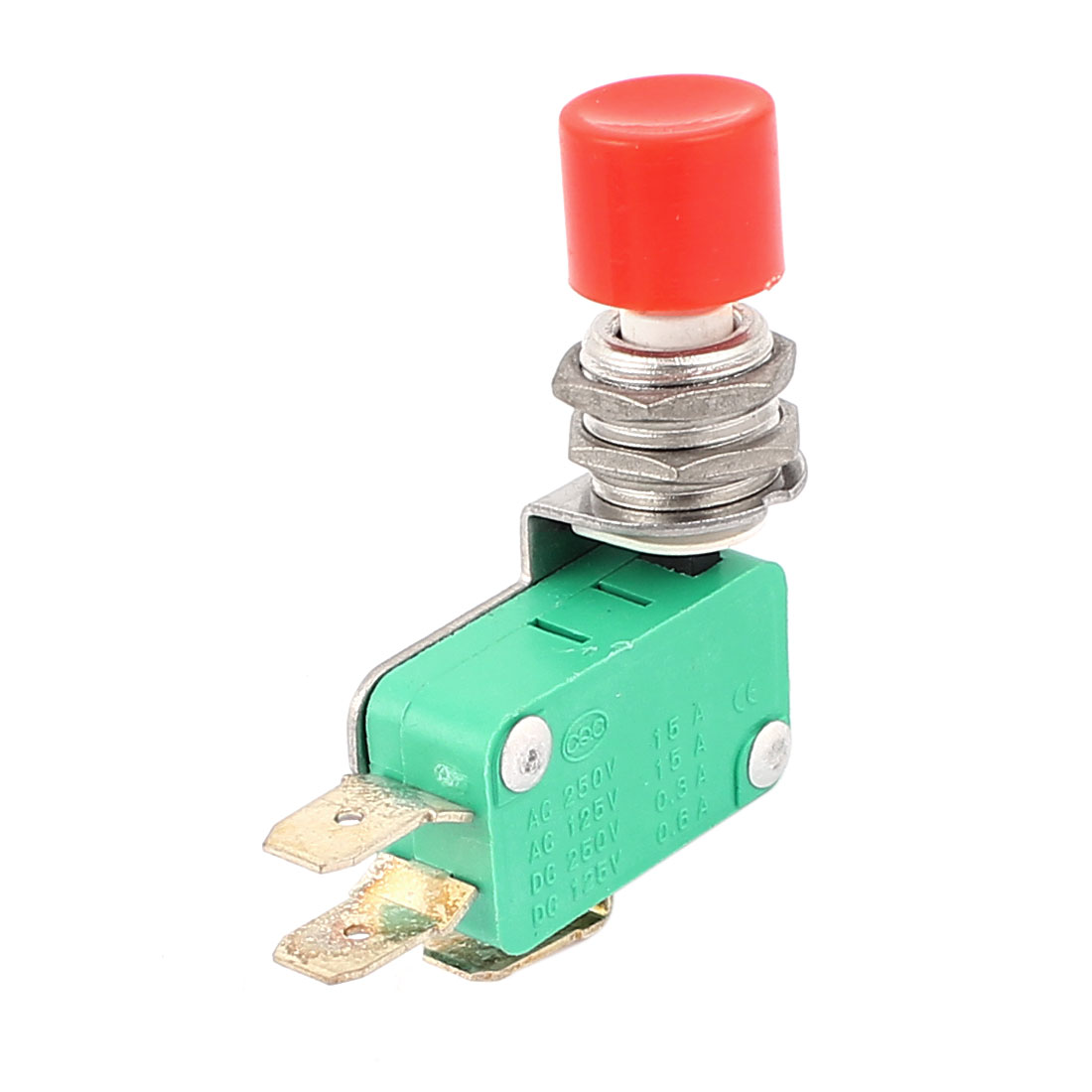 AC125/250V 15A NO/NC 3 Terminal Push Button Momentary AC DC Micro Limit Switch