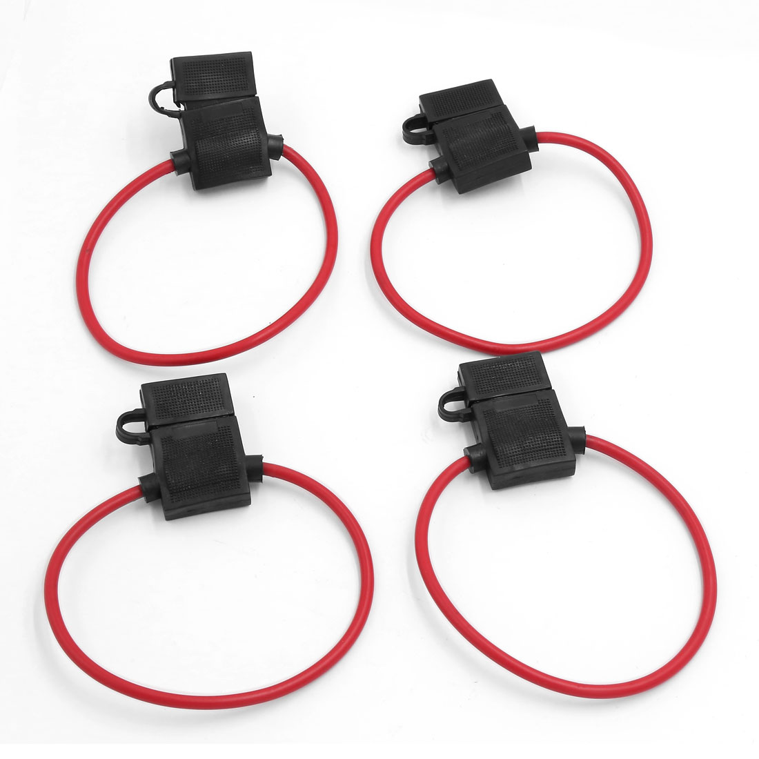 4 Pcs Waterproof Power Socket Mini Blade Type in Line Fuse Holder for Car