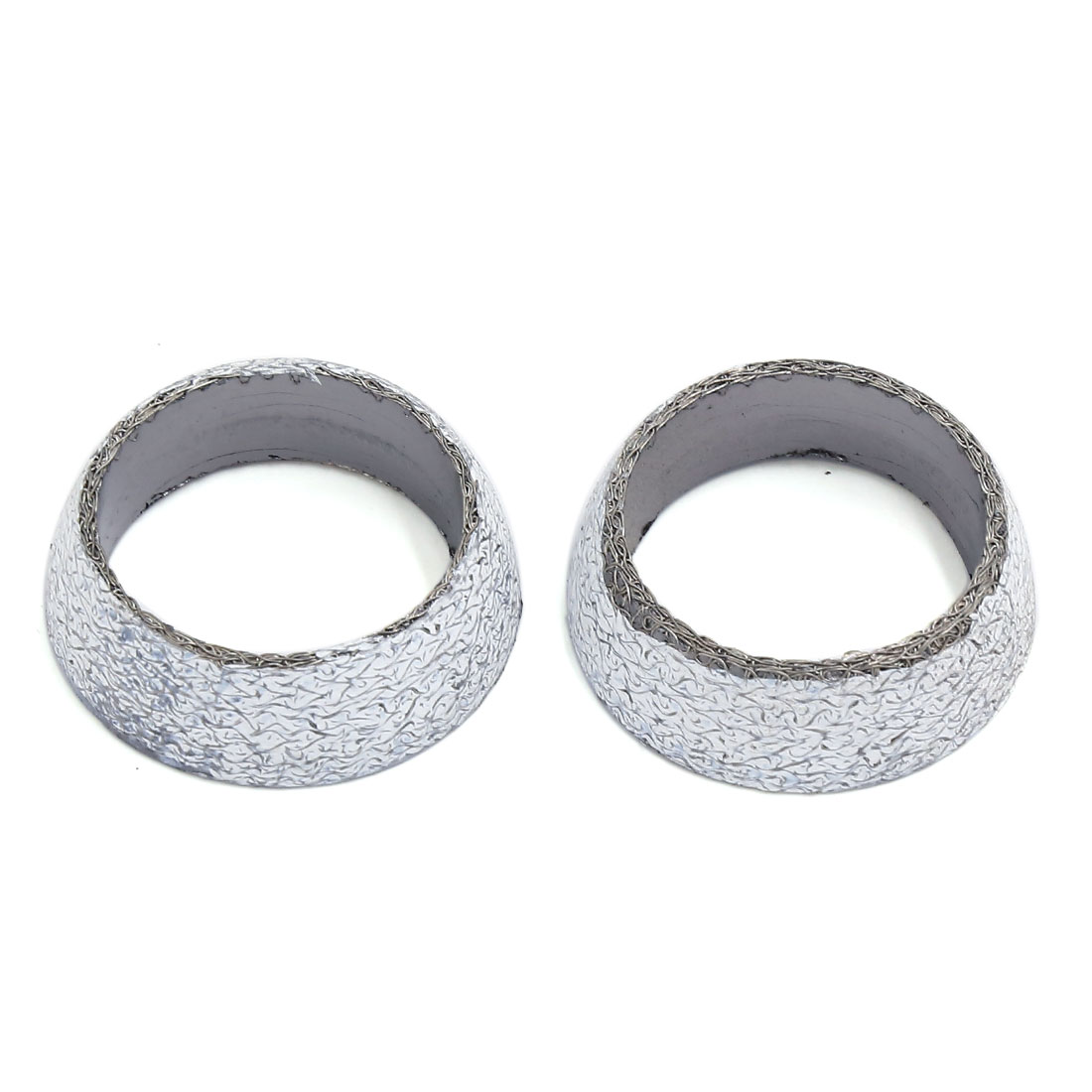 2 Pcs 35mm Dia Exhaust Tail Pipe Graphite Donut Gasket Muffler Seal Ring for Car