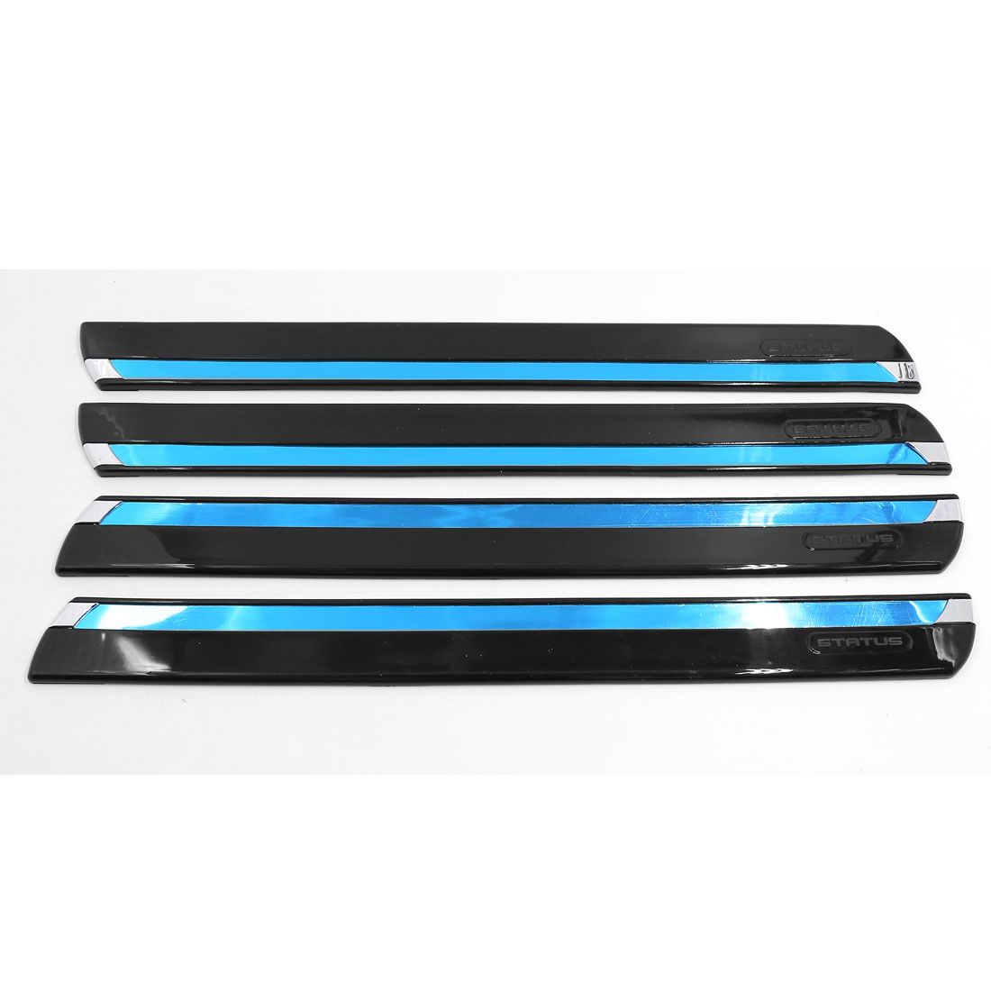 4 Pcs Flexible Reflective Car Front Rear Bumper Guard Protector Strip 42cm Long
