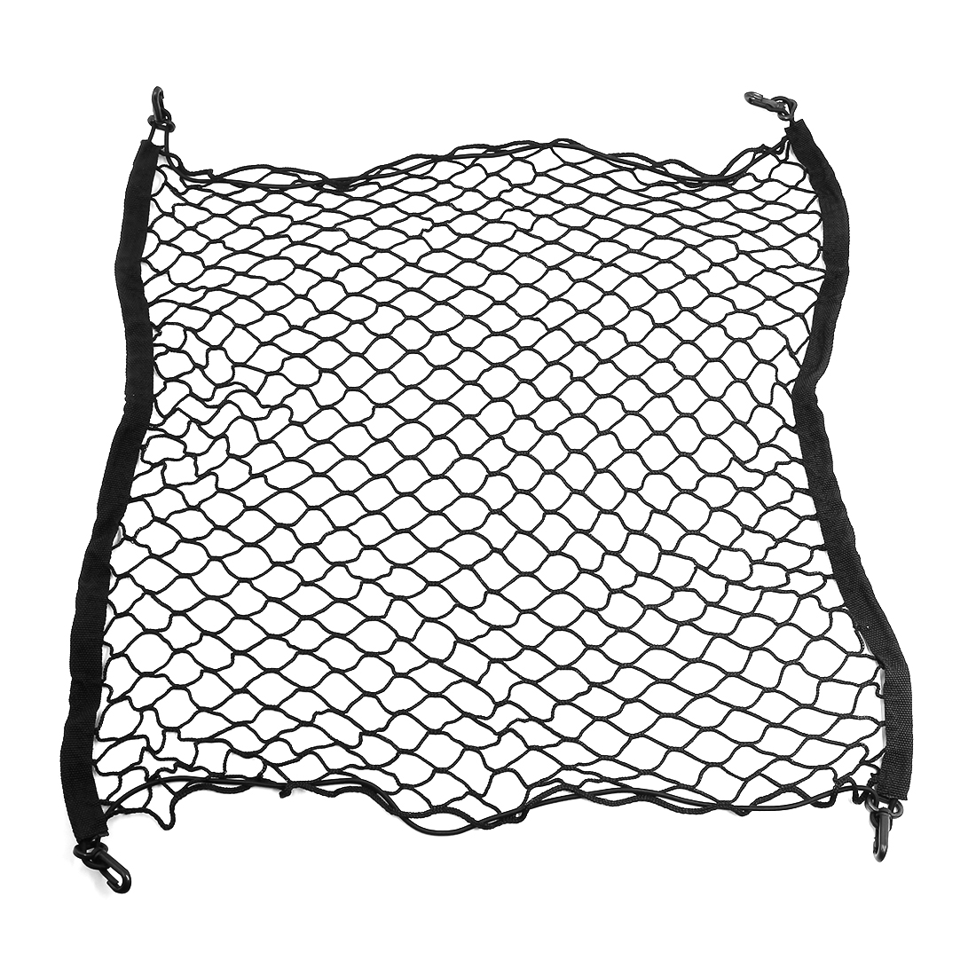 4 Hook Car Rear Trunk Cargo Luggage Storage Mesh Net Holder Black 70cm x 70cm