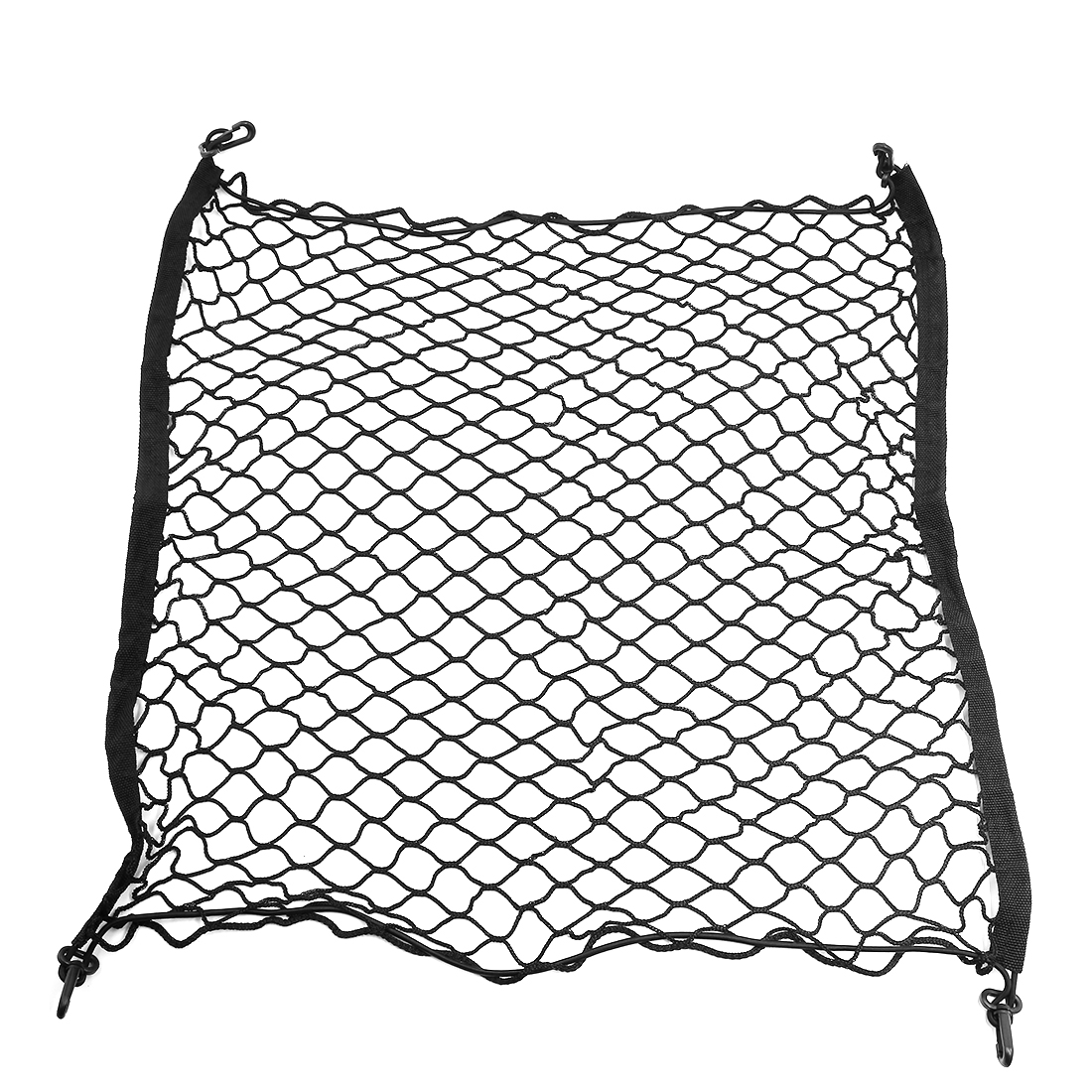 4 Hook Dual Layer Car Rear Trunk Cargo Luggage Elastic Mesh Net 83cm x 69cm