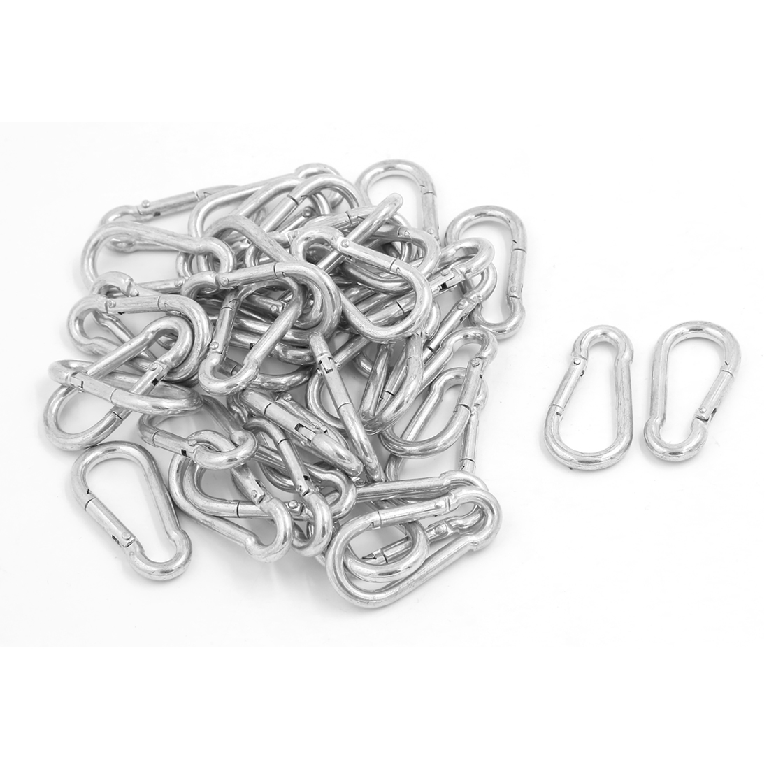 Outdoor Hiking Spring Clip Snap Aluminum Carabiner Hook Keychain 40pcs