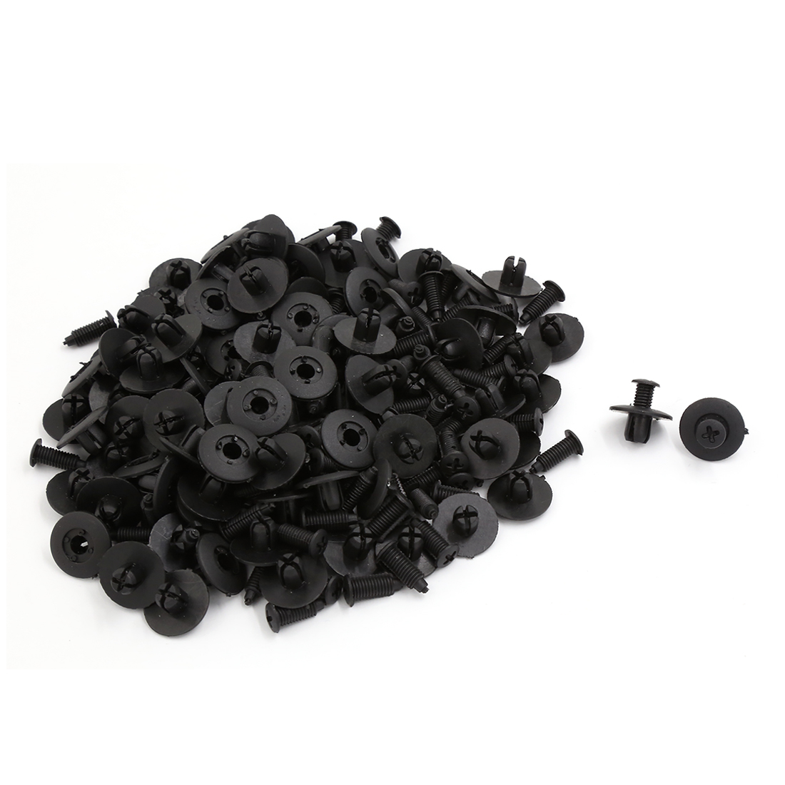 100 Pcs Plastic Car Door Bumper Retaining Screw Rivets Clips 8mm x 8mm x 20mm
