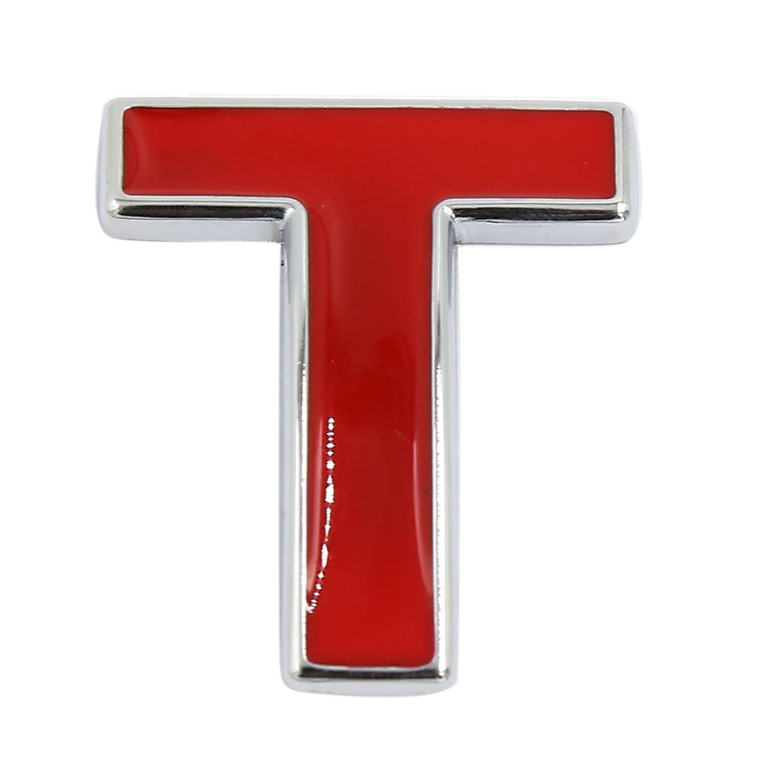 Red Self Adhesive Sticker Car Auto 3D Emblem Badge Decal Letter Chrome Symbol T