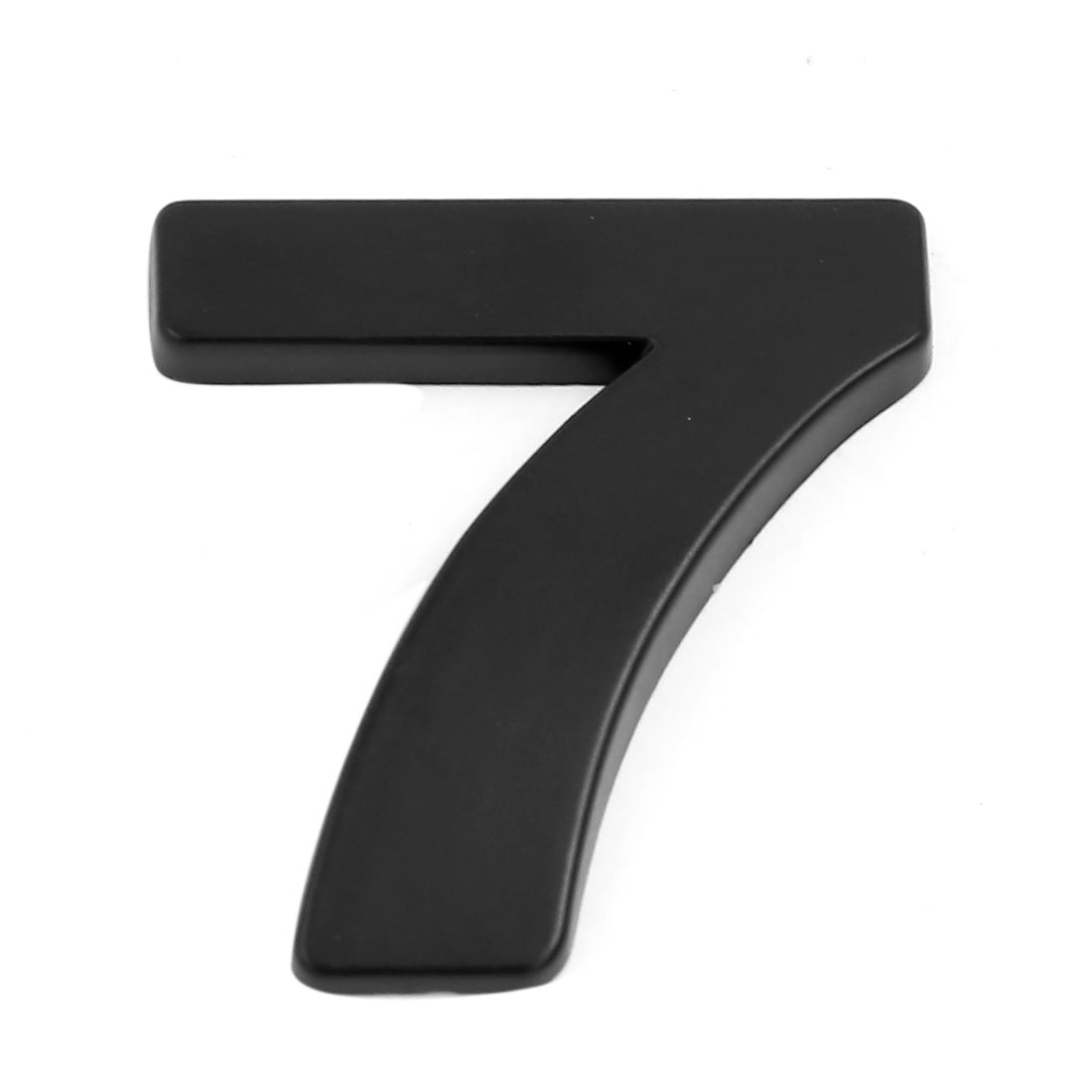 Chrome Self Adhesive Number 7 Shaped 3D Car Sticker Decal Badge Emblem Black