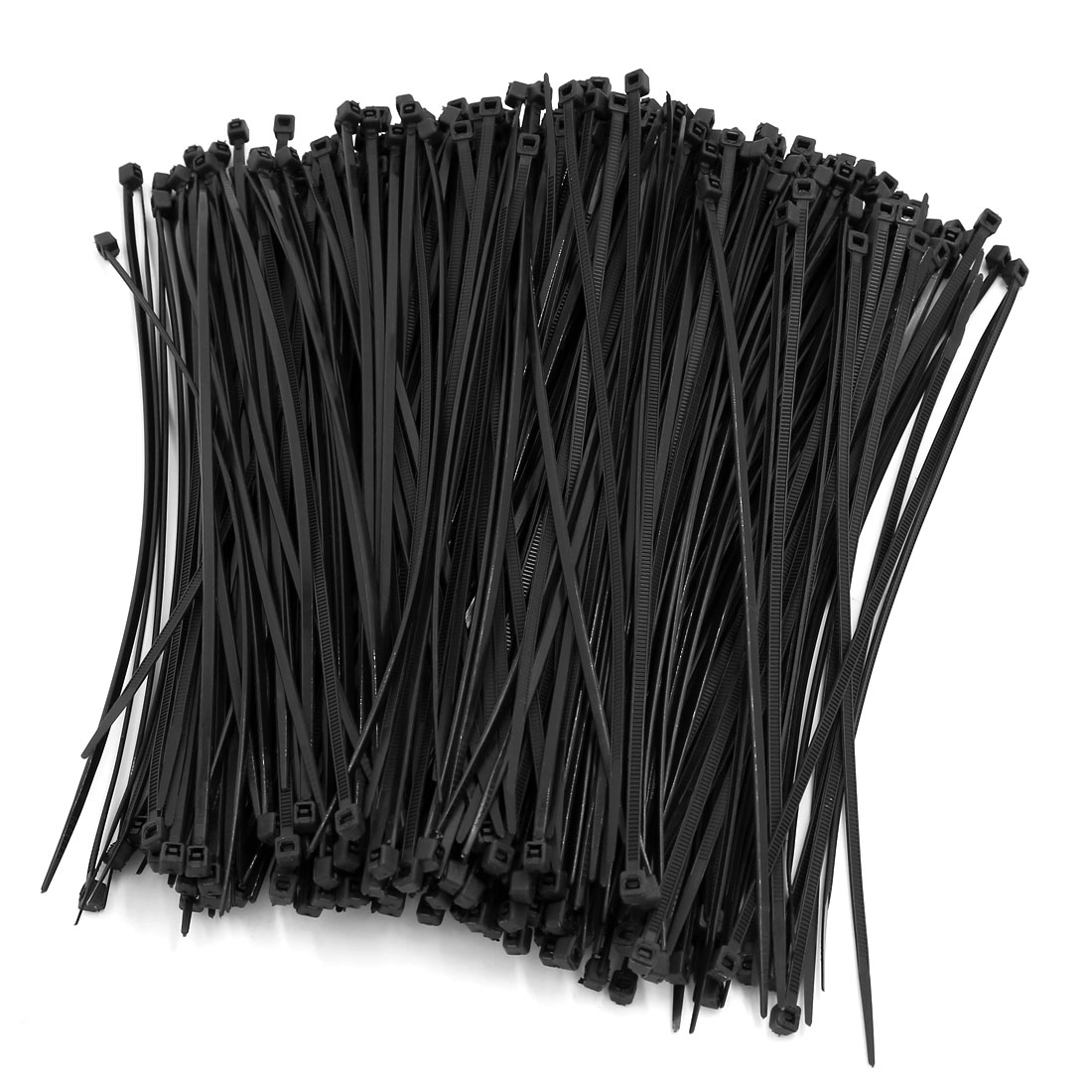 500 Pcs 193mm Long 3mm Wide Nylon Fastener Cable Tie Wire Zip Cord Strap Black