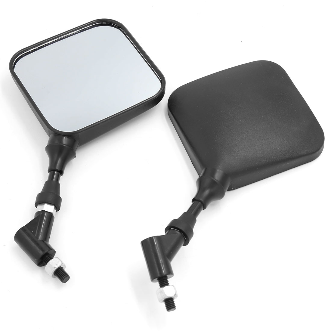 Universal Square Shaped Motorcycle Rear View Mirror Rearview Mirrors 8mm Thread 2pcs