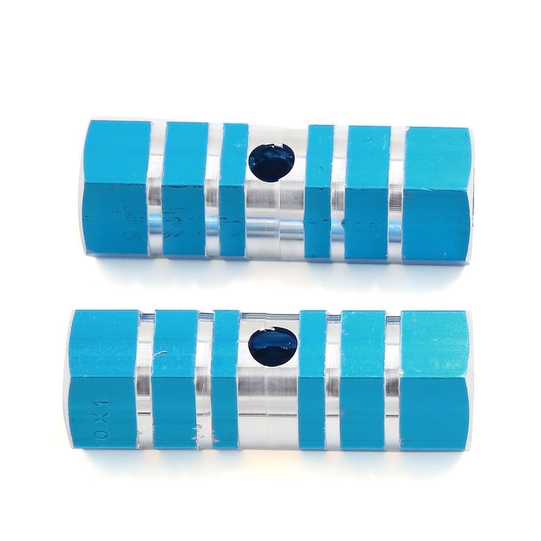 9mm Thread Diameter Blue Aluminum Antislip Axle BMX Bicycle Foot Pegs 2 Pcs