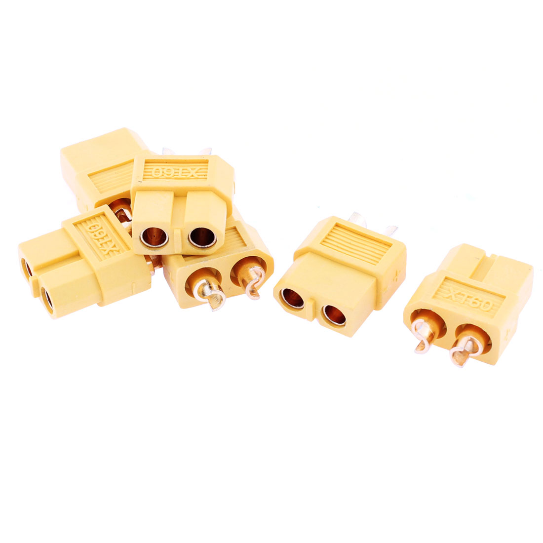 RC Aircraft Airplane Model Battery XT60 Female Connector Yellow 6 Pcs
