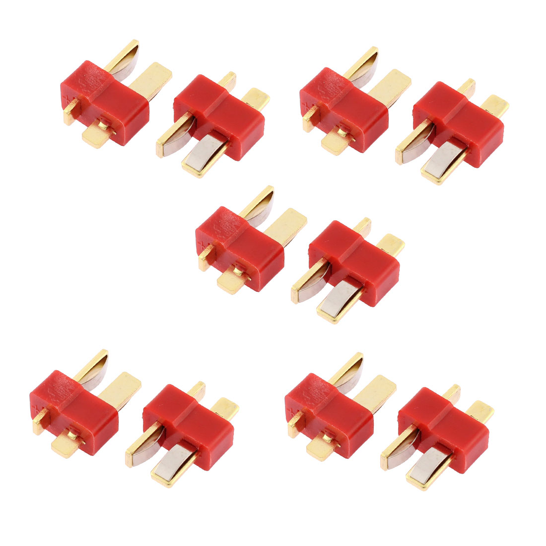 10 Pcs T Male Connectors for RC Airplane Aircraft LiPo Battery ESC