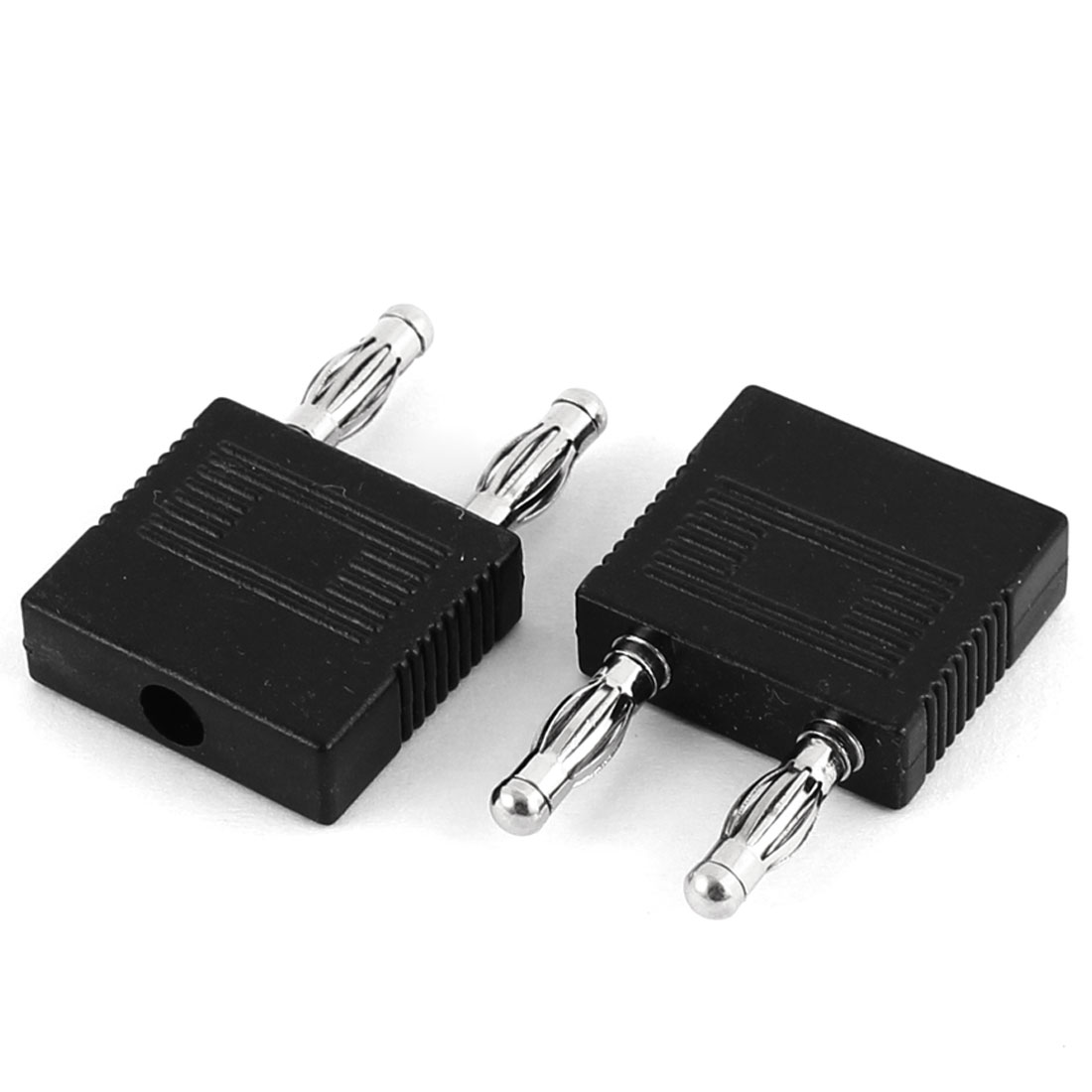 2 Pcs 4mm Dual Male to One Female Banana Jack Adapter Connector
