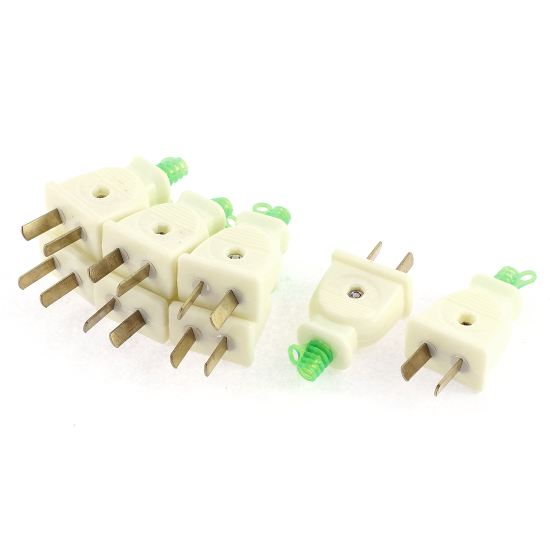 AC 250V 16A AU US 2 Pin Rotary Power Plug Adapter Connector 8 Pcs
