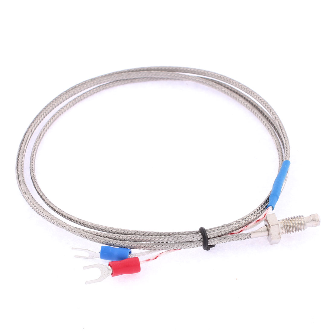 K Type 0-400C M6 Thread Dia 1mm Pitch Thermocouple Sensor 3.3Ft Length