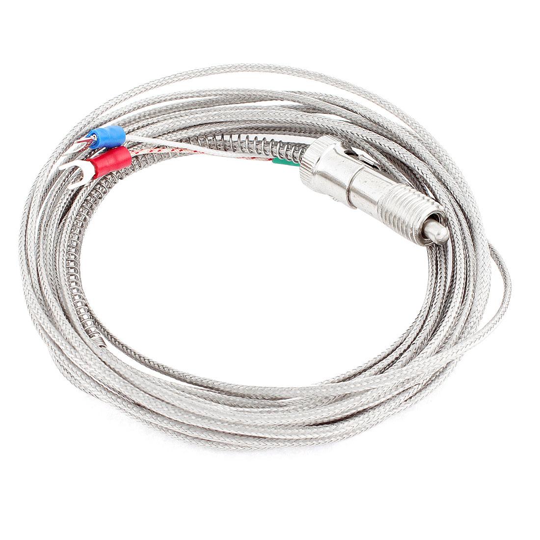 Adjustable Compression Spring K Type 0-400C Sensor Thermocouple 5M