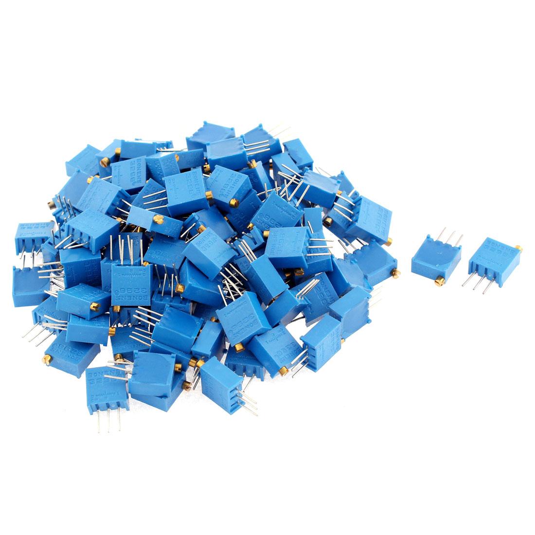 50 Pcs 3296W-102 High Precision Resistor Trim Pot Potentiometer Trimmer