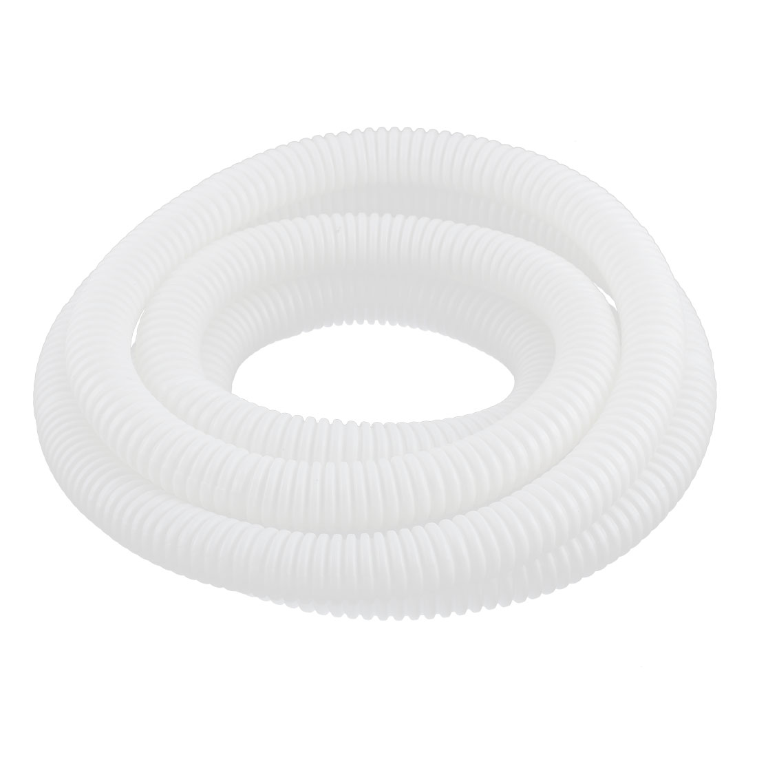 Flexible Corrugated Hose Tubing White 16x20mm 2.5M Long for Pond Pump Filter