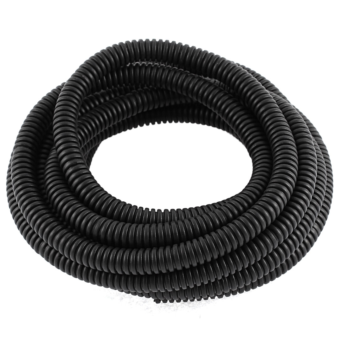 Corrugated Shaped Pipe Bellows Tube Hose Black3 Meters Length 10 x 8mm Diameter