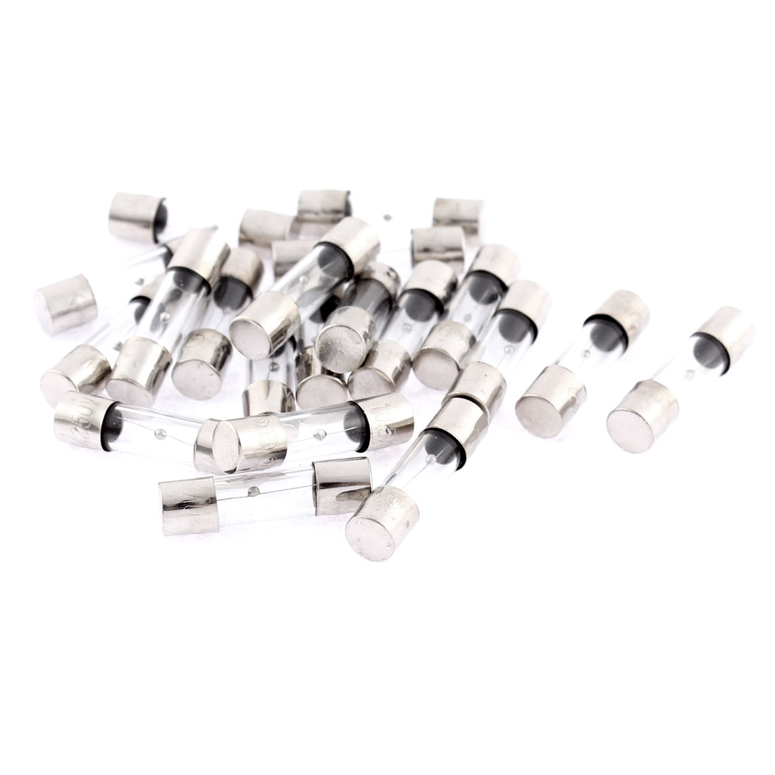 20Pcs 250V 0.5A Slow Blow Time Delay Glass Fuses 5mm x 20mm