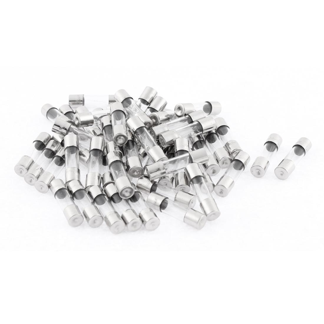 250V 0.1A Fast Quick Blow Glass Fuses 5 x 20mm 50Pcs