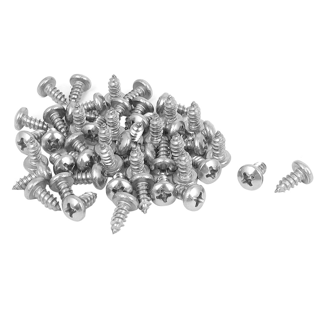 4.2mmx9.5mm Phillips Round Head Sheet Metal Self Tapping Drilling Screws 50pcs