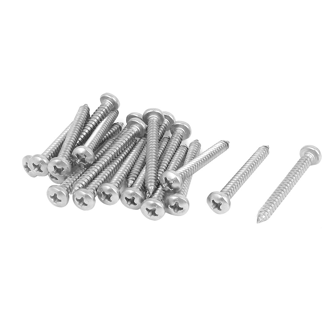 4.2mmx38mm Phillips Round Head Sheet Metal Self Tapping Drilling Screws 20pcs