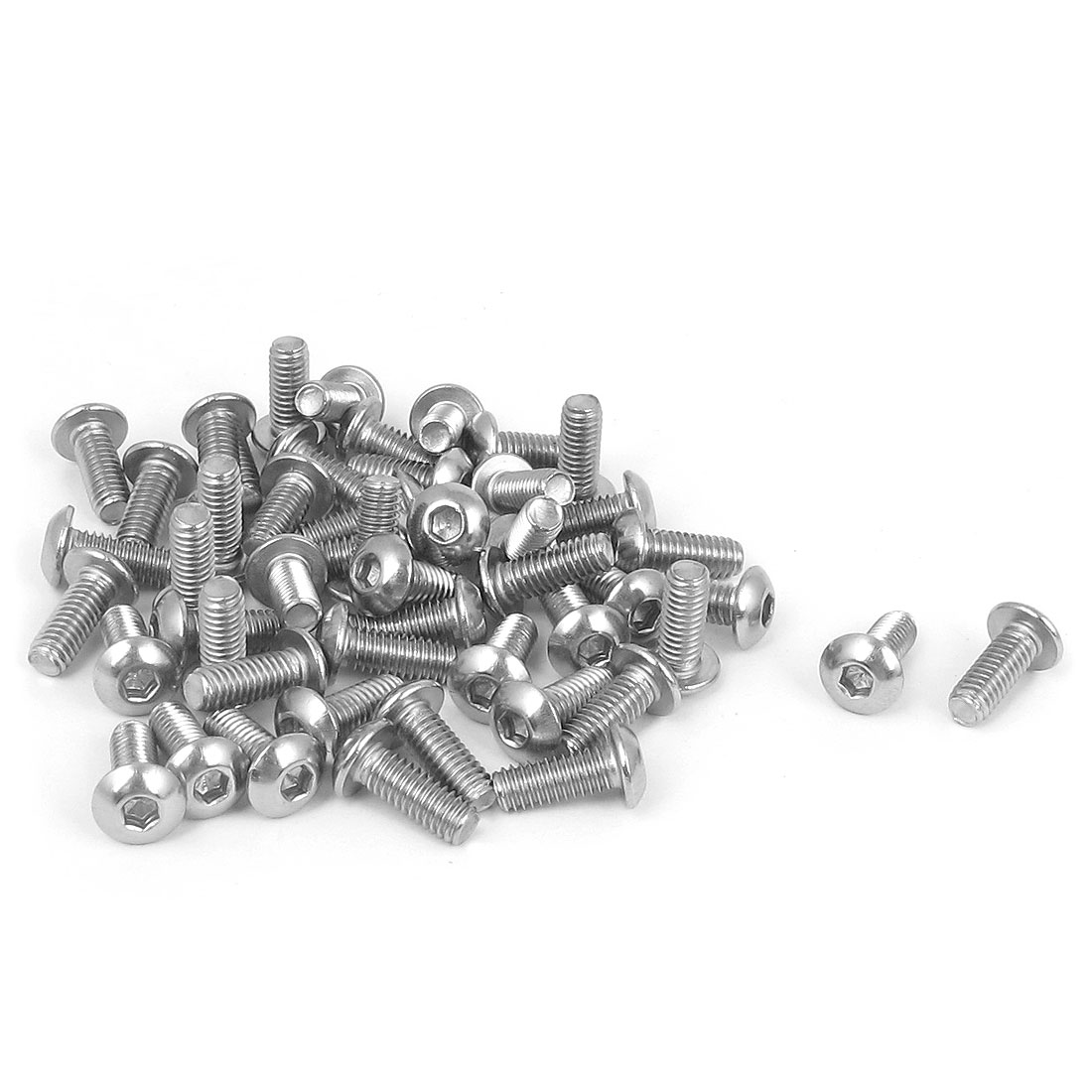 M4x10mm 304 Stainless Steel Hex Socket Machine Countersunk Round Head Screw Bolts 50PCS