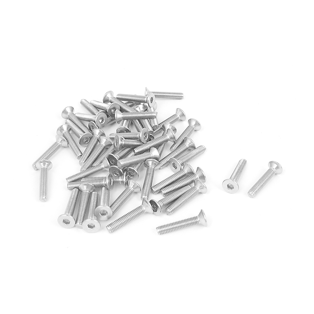 M3 x 16mm Metric 304 Stainless Steel Hex Socket Countersunk Flat Head Screw Bolts 50PCS