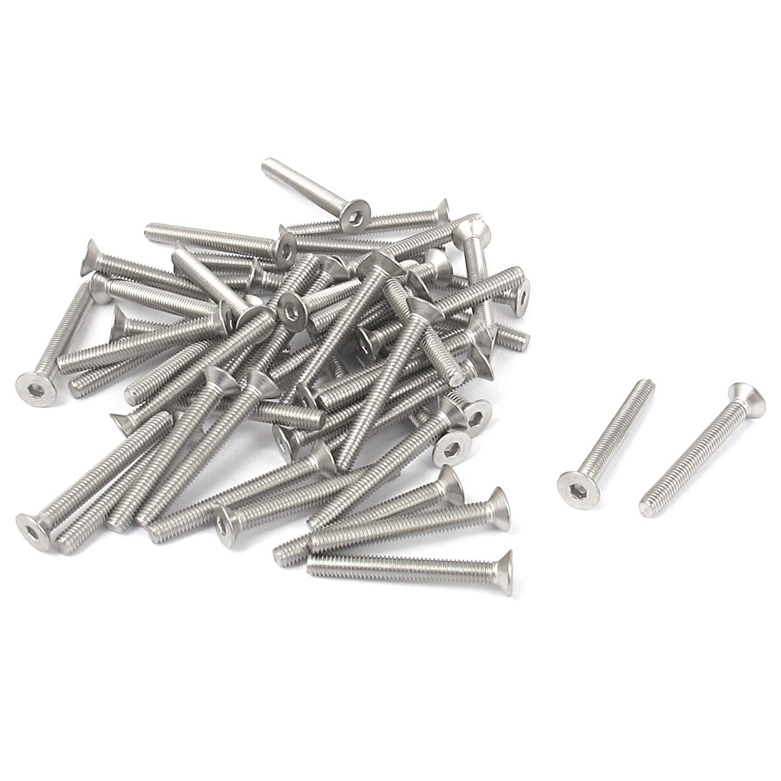 M3 x 25mm Metric 304 Stainless Steel Hex Socket Countersunk Flat Head Screw Bolts 50PCS