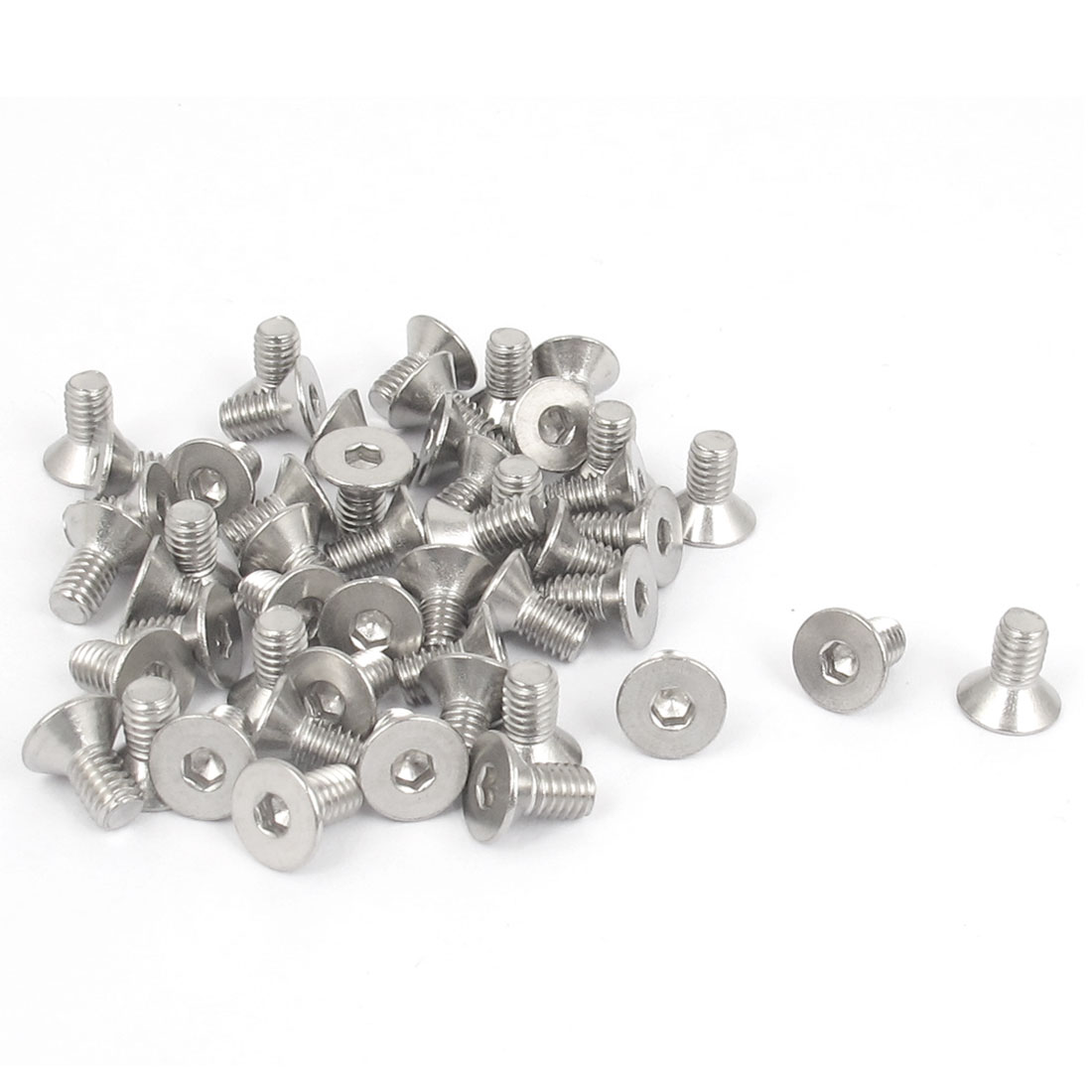 M4 x 8mm Metric 304 Stainless Steel Hex Socket Countersunk Flat Head Screw Bolts 50PCS