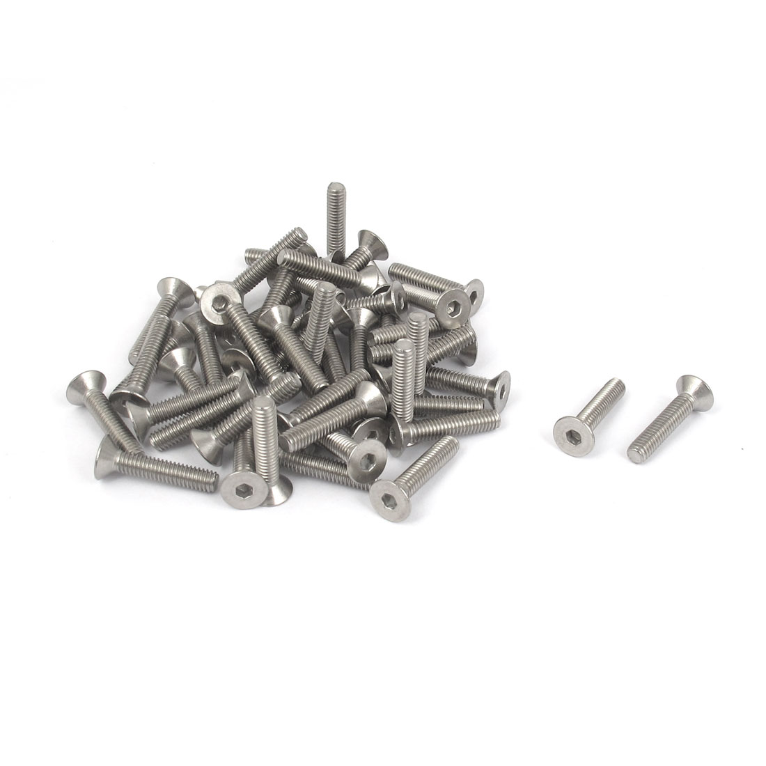 M4 x 20mm Metric 304 Stainless Steel Hex Socket Countersunk Flat Head Screw Bolts 50PCS