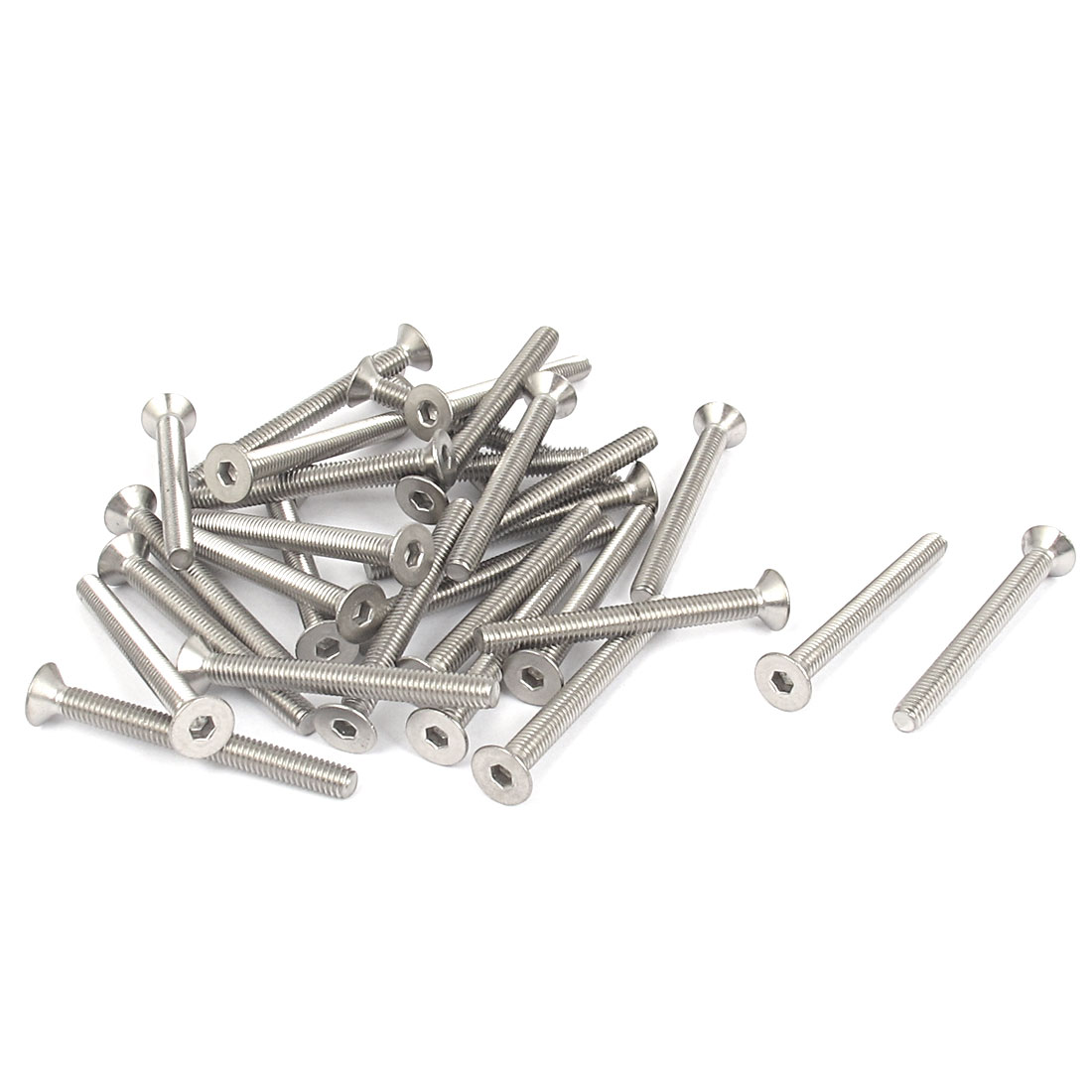 M4 x 40mm Metric 304 Stainless Steel Hex Socket Countersunk Flat Head Screw Bolts 30PCS