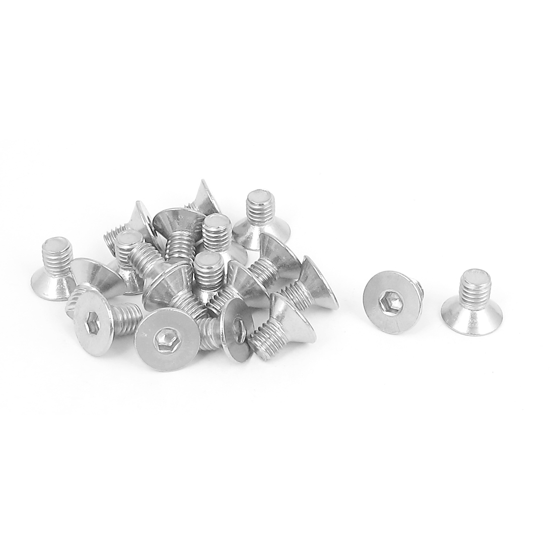 M5 x 8mm Metric 304 Stainless Steel Hex Socket Countersunk Flat Head Screw Bolts 20PCS