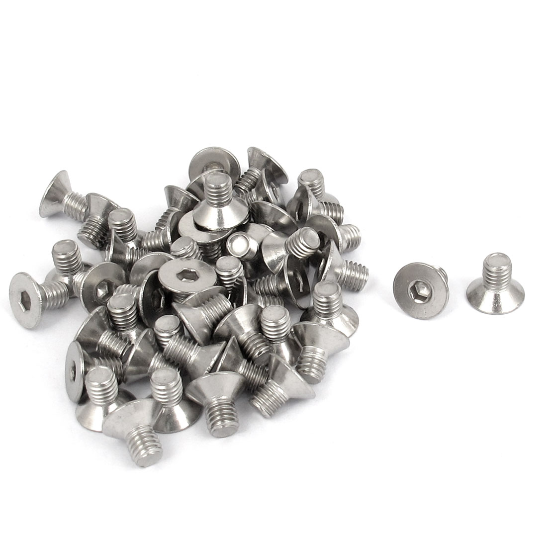 M5 x 8mm Metric 304 Stainless Steel Hex Socket Countersunk Flat Head Screw Bolts 50PCS