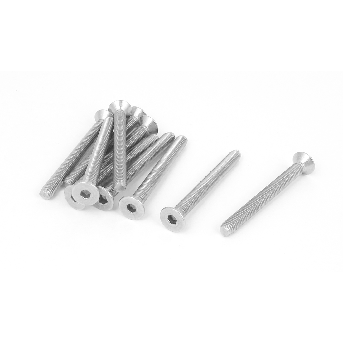M5 x 50mm Metric 304 Stainless Steel Hex Socket Countersunk Flat Head Screw Bolts 10PCS