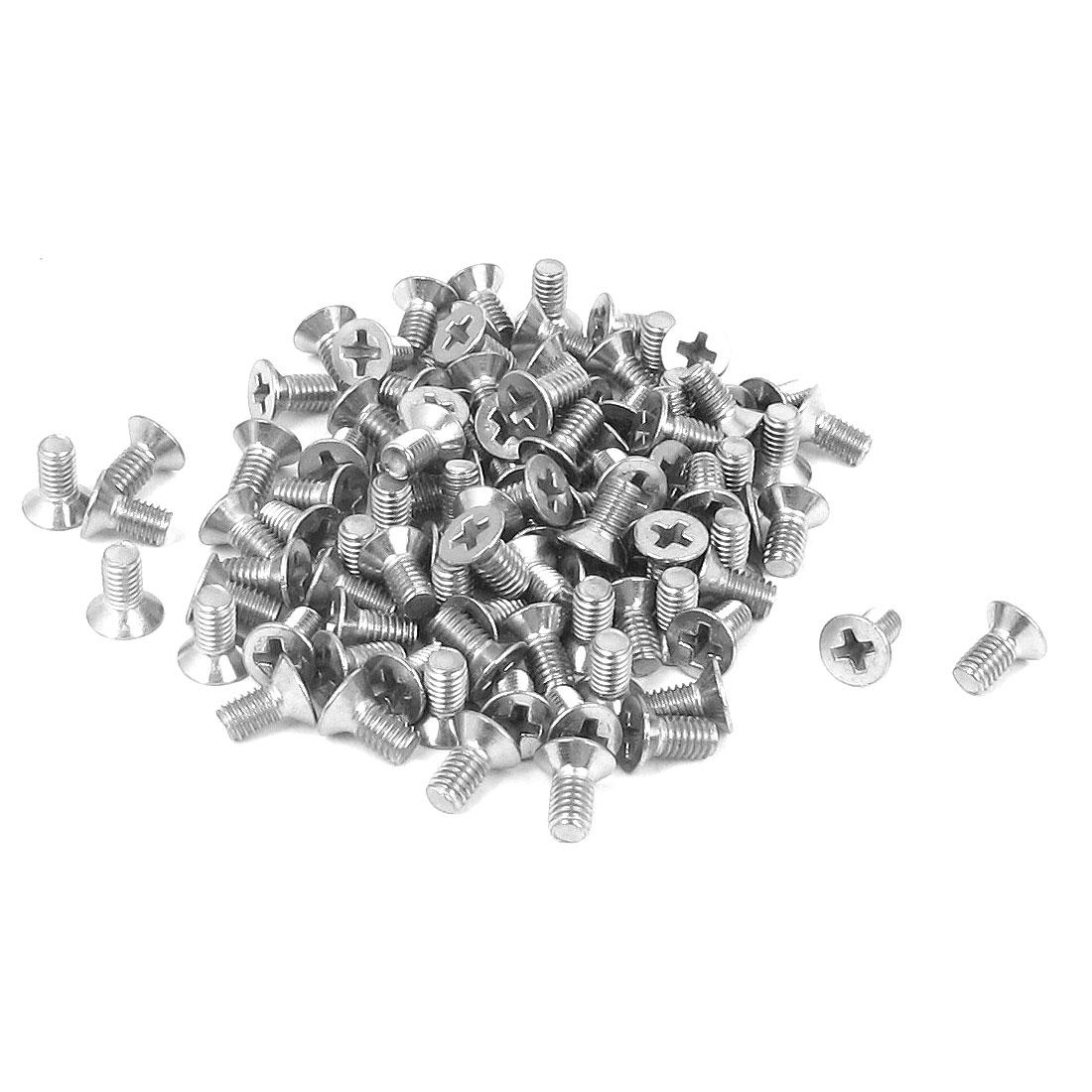 M3 x 6mm Metric Phillips Flat Head Countersunk Bolts Machine Screws 100pcs