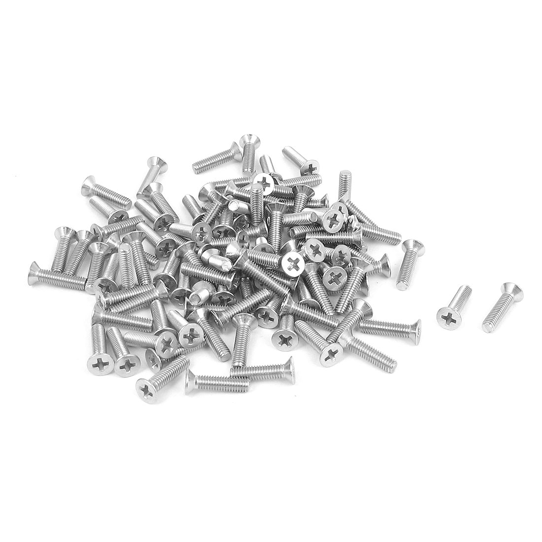 M3 x 12mm Metric Phillips Flat Head Countersunk Bolts Machine Screws 100pcs