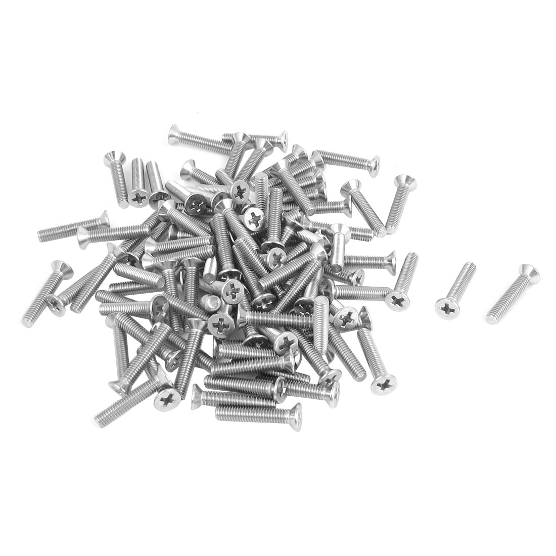 M3 x 16mm Metric Phillips Flat Head Countersunk Bolts Machine Screws 100pcs
