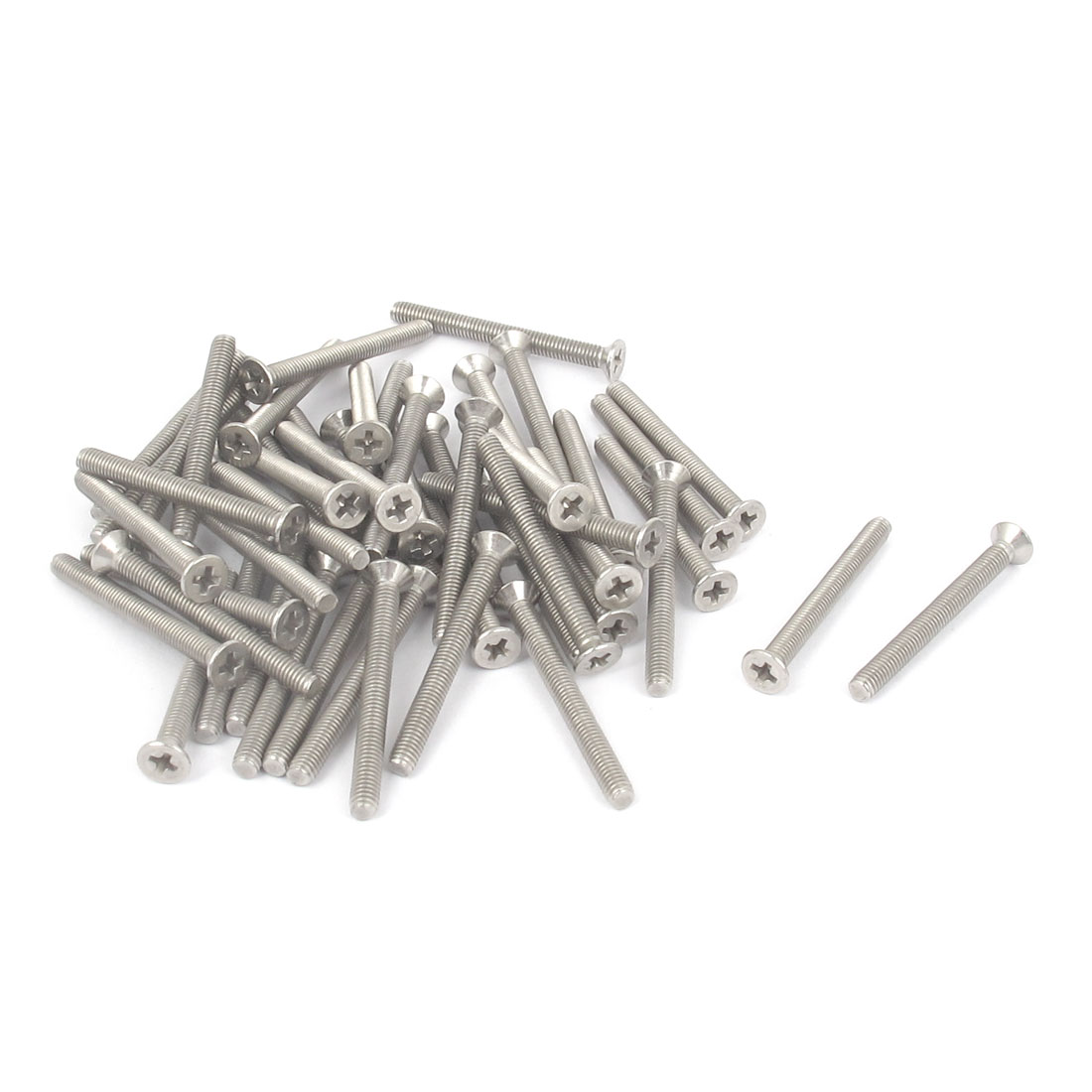 M3 x 30mm Metric Phillips Flat Head Countersunk Bolts Machine Screws 50pcs