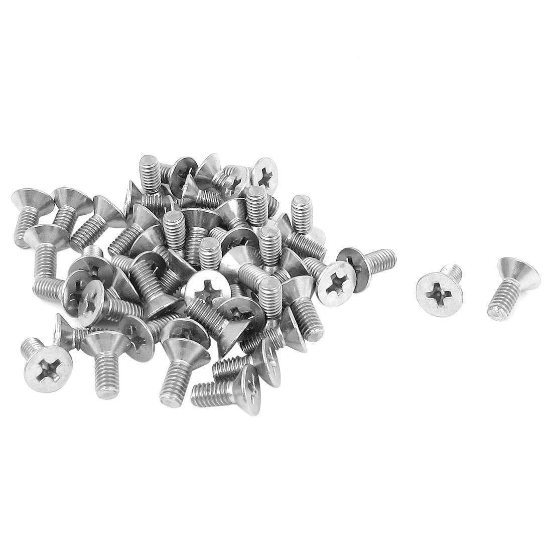 M4 x 10mm Metric Phillips Flat Head Countersunk Bolts Machine Screws 50pcs