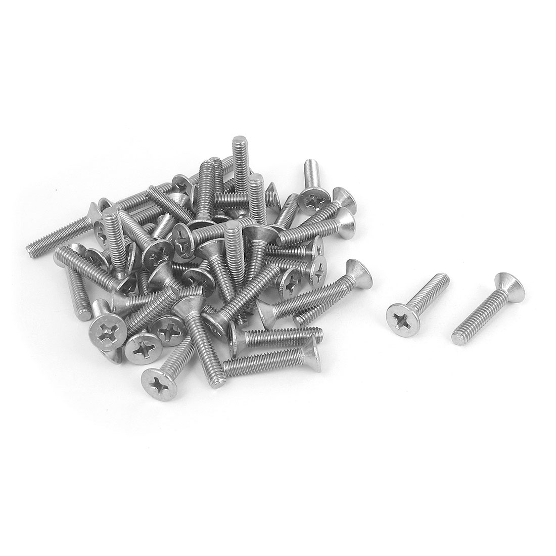 M4 x 20mm Metric Phillips Flat Head Countersunk Bolts Machine Screws 50pcs